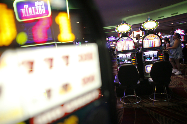 Slot machines at the Stratosphere's casino floor on Monday, Jan. 30, 2017, in Las Vegas. (Rachel Aston/Las Vegas Review-Journal) @rookie__rae