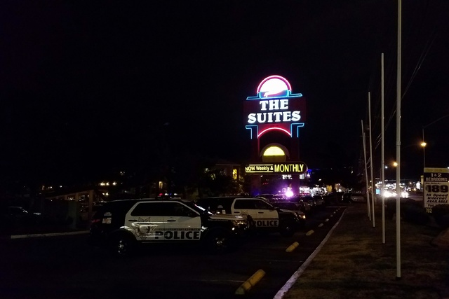 A man was arrested on Monday, March 27, 2017, in connection with a shooting incident on Jan. 18, 2017, at the Suites, 4855 Boulder Highway. (Mike Shoro/Las Vegas Review-Journal)