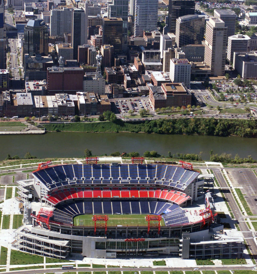 The Coliseum, home of the Tennessee Titans, is shown in a 1999 photo. The NFL's winningest team over the past four seasons is headed into a second straight year playing in its stadium called The C ...