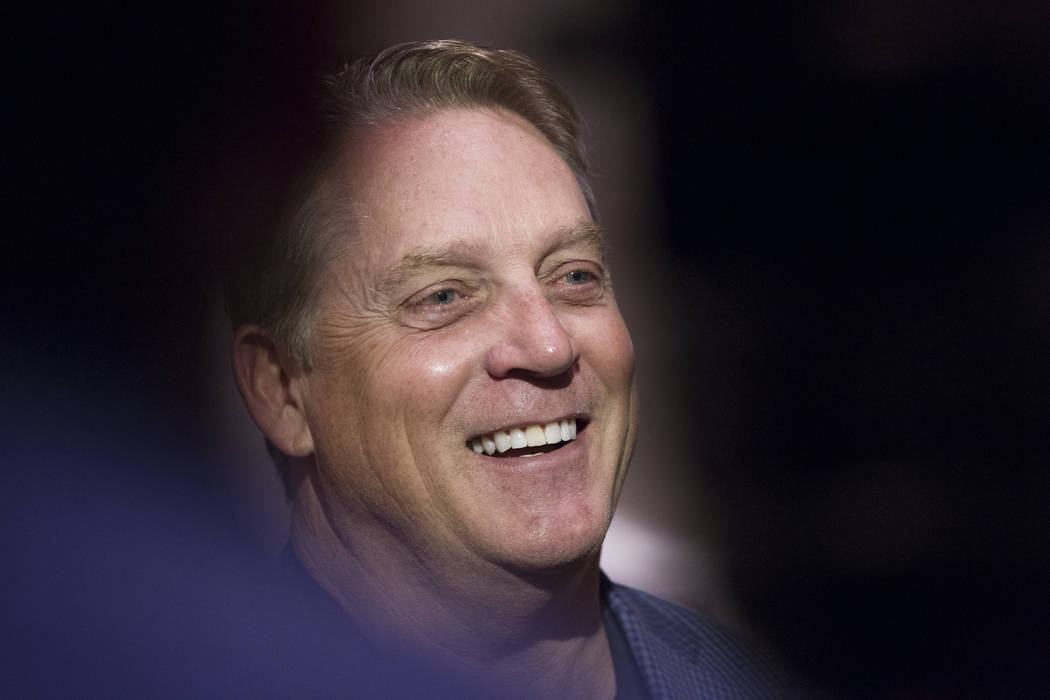Oakland Raiders head coach Jack Del Rio during day three of the NFL Annual Meeting at the Arizona Biltmore Hotel on Tuesday, March 28, 2017, in Phoenix, Ariz. (Erik Verduzco/Las Vegas Review-Journ ...