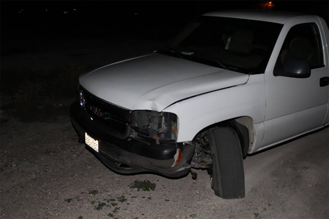 This truck was involved in a fatal accident in Pahrump, Nevada. (Nevada Highway Patrol)