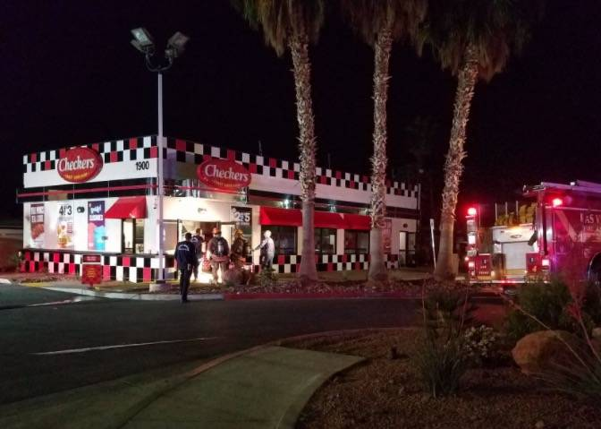Nobody was hurt after a grill caught fire at Checkers, 1900 E. Charleston Blvd., about 1 a.m. Public information officer Tim Szymanski said a stove's gas line was hit while it was being cleaned. ...