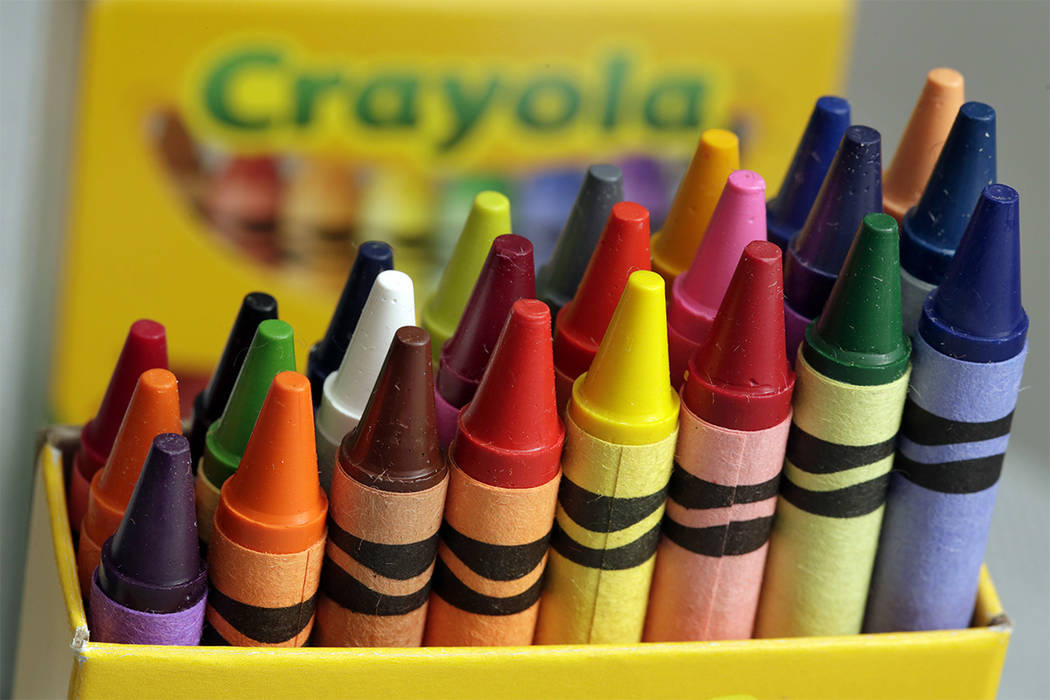 On National Crayon Day, Friday, March 31, Crayola is scheduled to announce the retirement of a color from the pack during an event in New York's Times Square. (Richard Drew/AP)