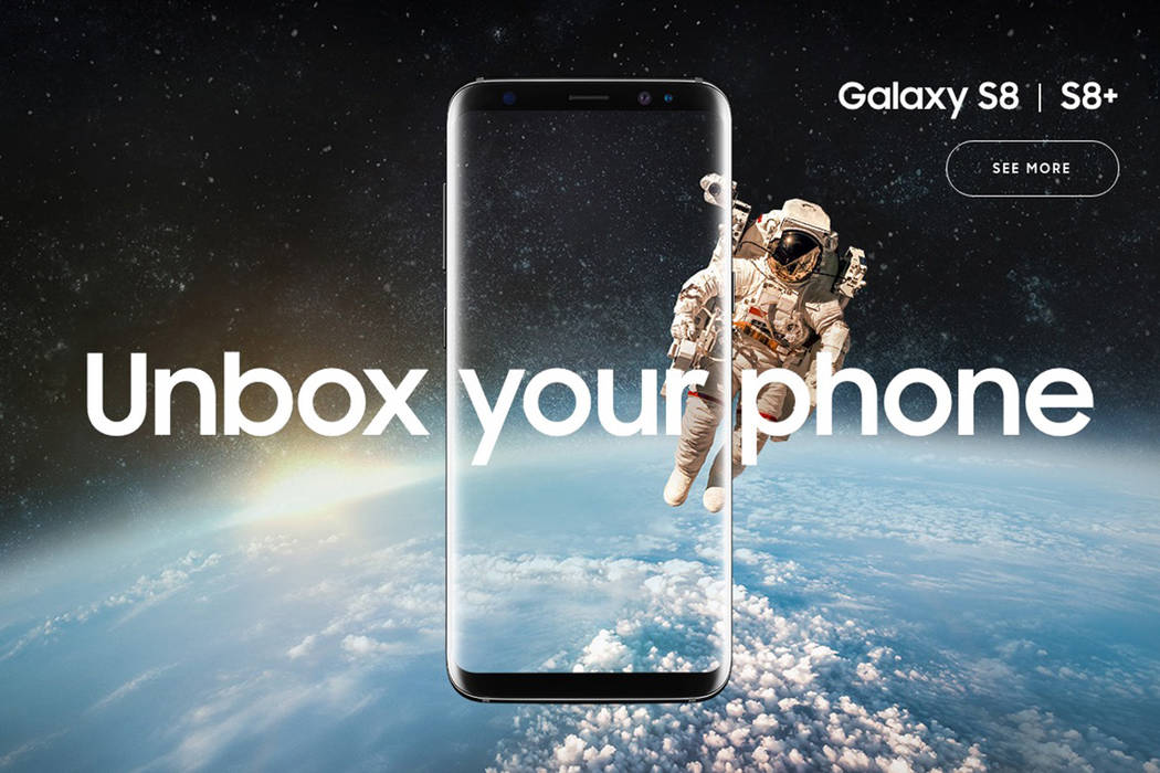 Samsung unveiled their newest phone, the Galaxy S8, on Wednesday, March 29, 2017. (Screengrab/Samsung.com)