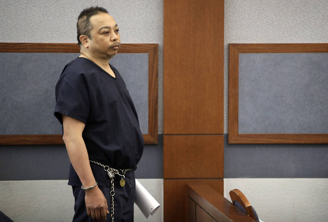 Rolando Cardenas makes an initial court appearance Wednesday, March 29, 2017, in Las Vegas. (John Locher/AP)