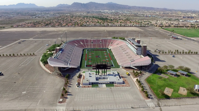 Aerial view of Sam Boyd Stadium taken Aug. 24, 2016, in Las Vegas. (Las Vegas Review-Journal)