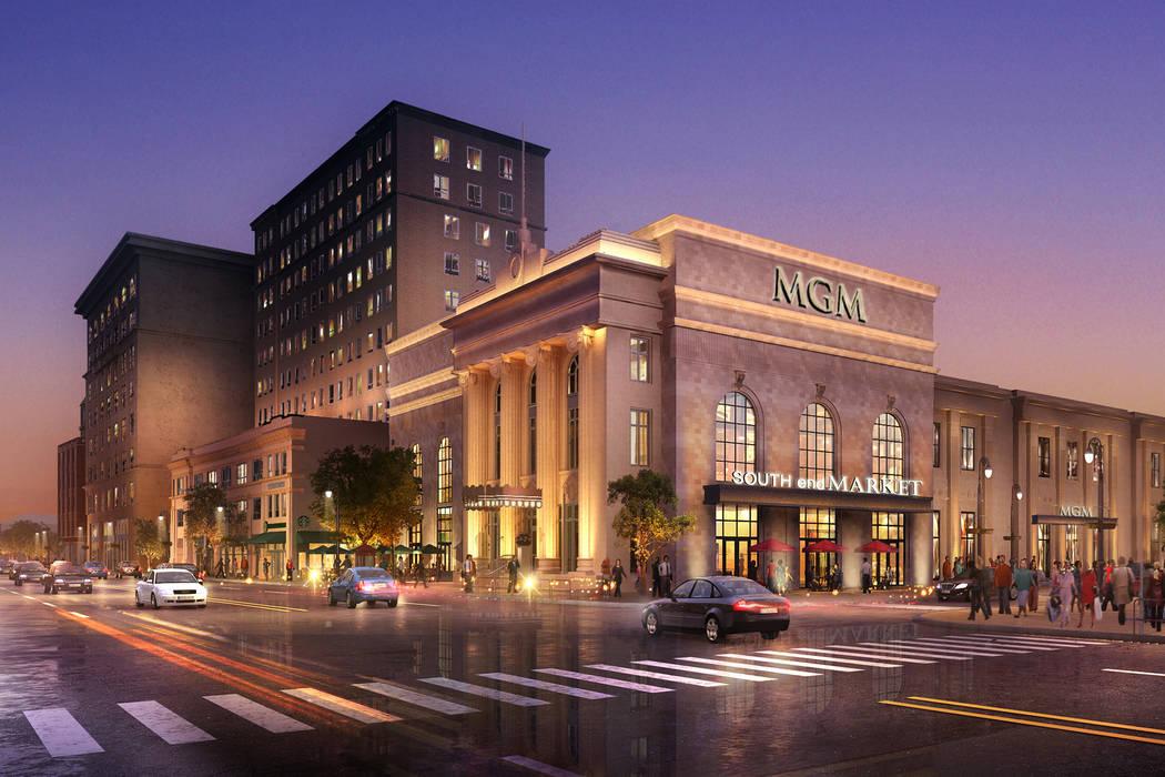 An updated rendering of MGM Resorts International's casino in Springfield, Massachusetts. (MGM Resorts International)