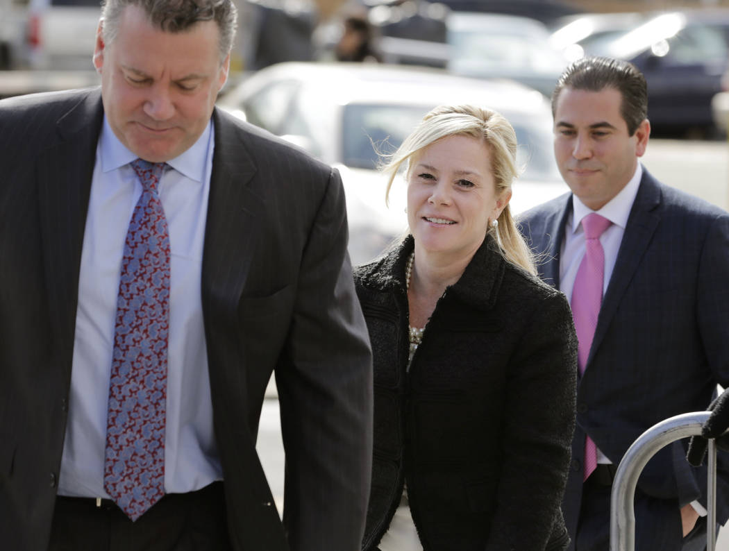 Bridget Kelly, center, arrives for sentencing at federal court in Newark, N.J., Wednesday, March 29, 2017. (Seth Wenig/AP)