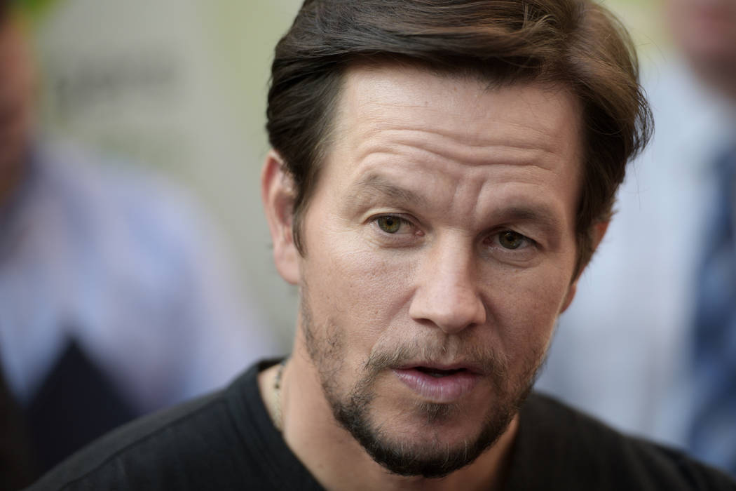 Actor Mark Wahlberg gives an interview during a VIP event at Wahlburgers Las Vegas in the Grand Bazaar Shops at Bally's Tuesday, March 28, 2017. Sam Morris/Las Vegas News Bureau