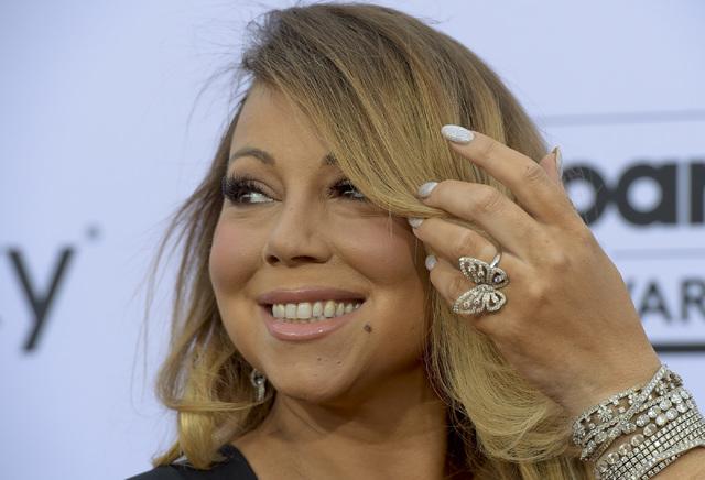 Mariah Carey arrives at the 2015 Billboard Music Awards at MGM Grand Garden Arena on Sunday, May 17, 2015, in Las Vegas. (Mark Damon/Las Vegas News Bureau)