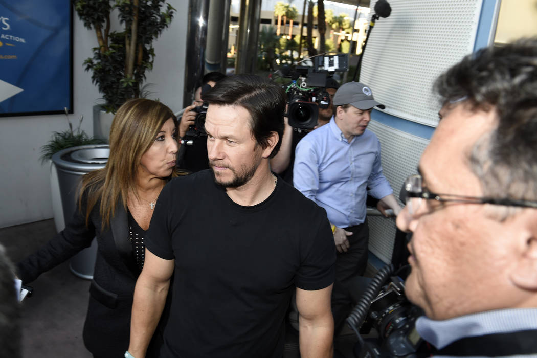 Actor Mark Wahlberg arrives at a VIP event at Wahlburgers Las Vegas in the Grand Bazaar Shops at Bally's Tuesday, March 28, 2017. CREDIT: Sam Morris/Las Vegas News Bureau