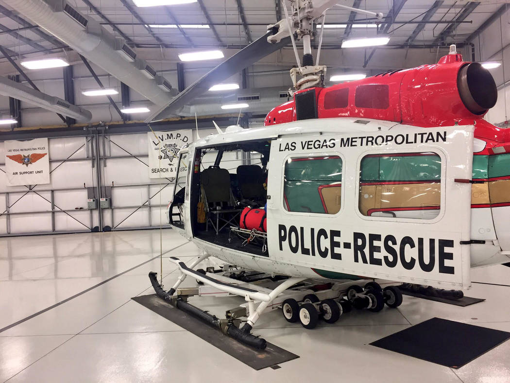 One of three Metropolitan Police Department search and rescue helicopters that respond to anything from lost hikers to fatal falls. Hikers should always prepare for the worst before hitting the tr ...
