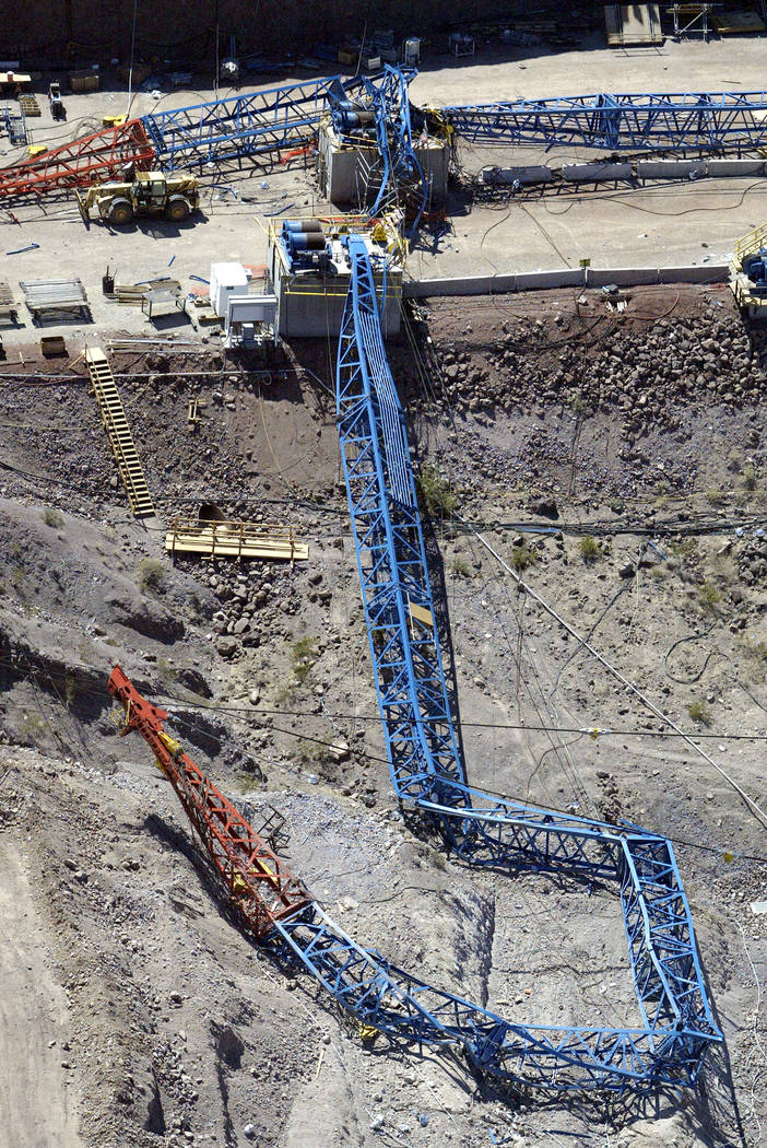 Image result for hoover dam bypass crane collapse