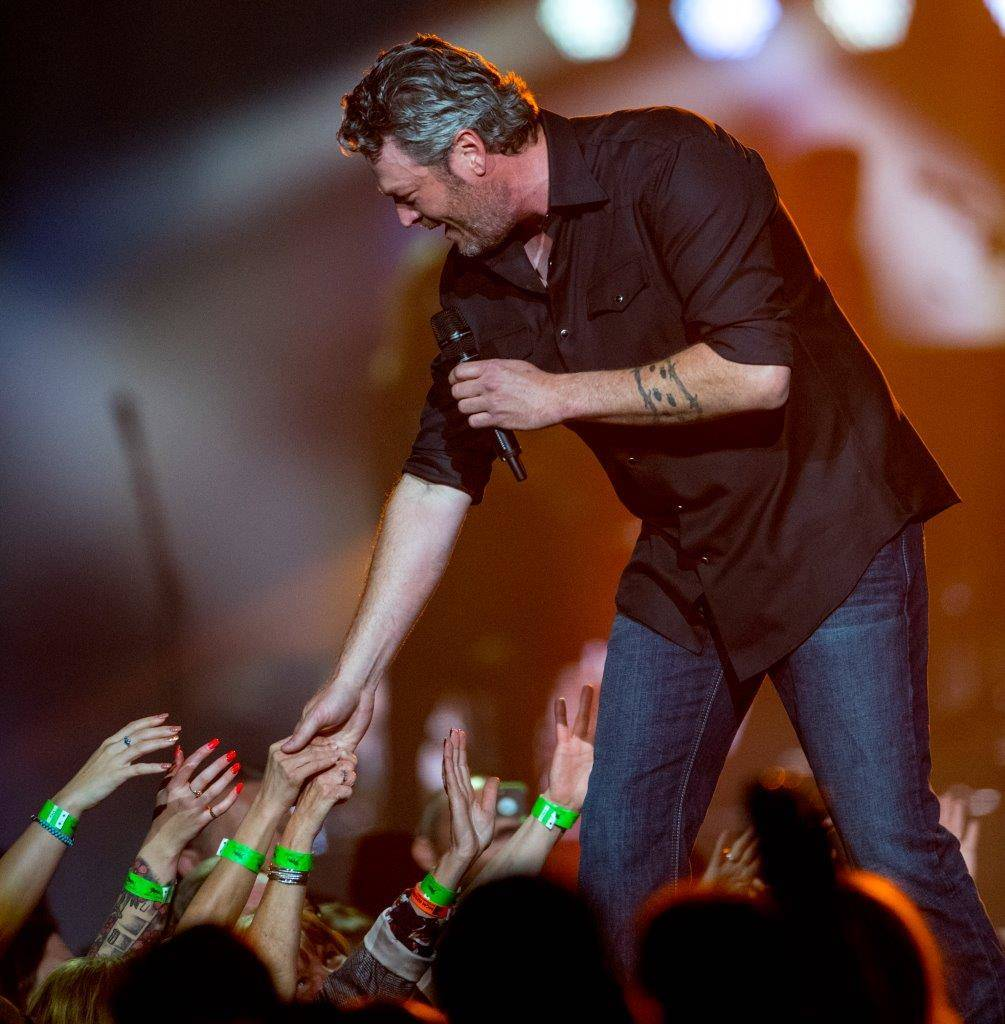 Blake Shelton headlines MGM Grand Garden Arena on Saturday, March 4, 2017, in Las Vegas. (Tom Donoghue)