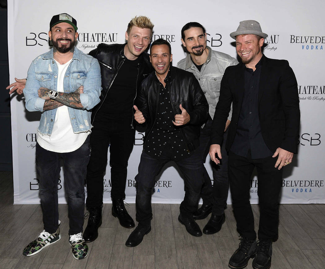 The Backstreet Boys host an after-party at Chateau Nightclub at Paris Las Vegas late Wednesday, March 1, 2017, in Las Vegas. (Bryan Steffy/WireImage)