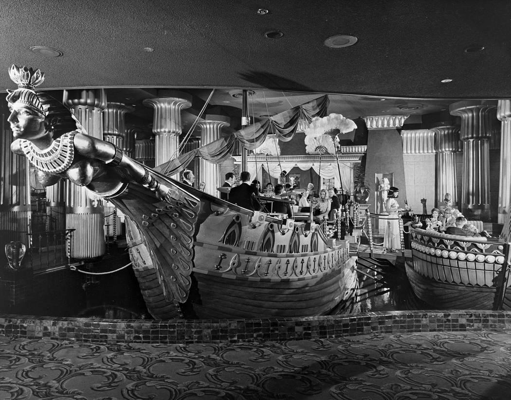A copy of a stock photo by E. Allen of Cleopatra's Barge at Caesars Palace, dated Oct. 16, 1970. CREDIT: Las Vegas News Bureau