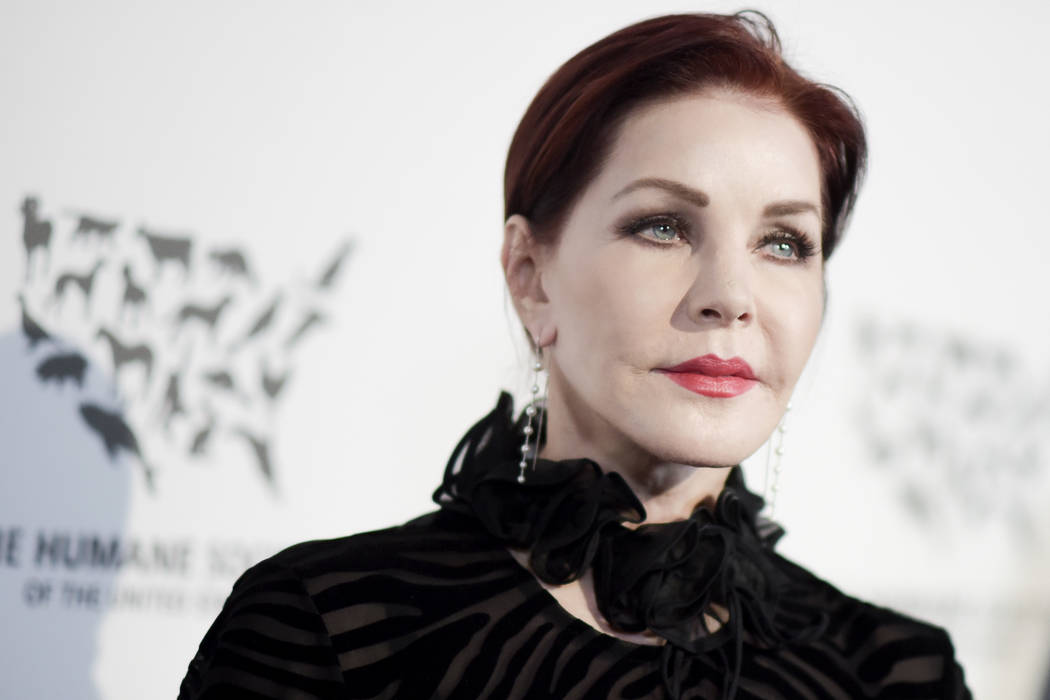 """Priscilla Presley attends """"To the Rescue: Saving Animal Lives"""" Gala and Fundraiser held at Paramount Pictures Studio in Los Angeles. (Richard Shotwell/Invision/AP, File)"""
