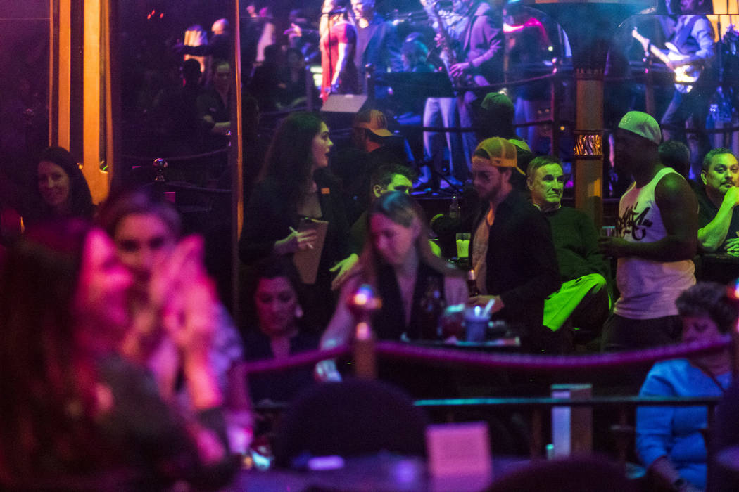 People arrive to watch the David Perrico Pop Strings Orchestra at Cleopatra's Barge at Caesars Palace in Las Vegas on Friday, March 3, 2017. (Chase Stevens/Las Vegas Review-Journal) @csstevensphoto