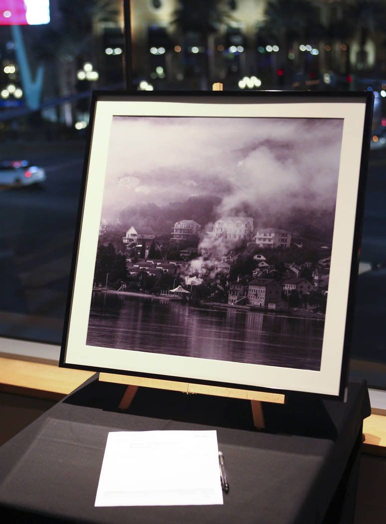 """Dramatic Fjord"" by Capt. Matt McCarthy during the Cops and Canvas fundraising event for the Metropolitan Police Department at Neiman Marcus inside of the Fashion Show Mall in La ..."