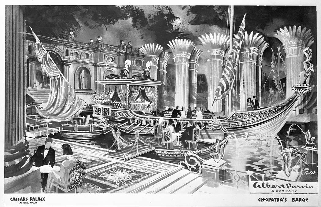 An artist's rendering of Cleopatra's Barge at Caesars Palace, copy photo dated May 25, 1970. CREDIT: Las Vegas News Bureau