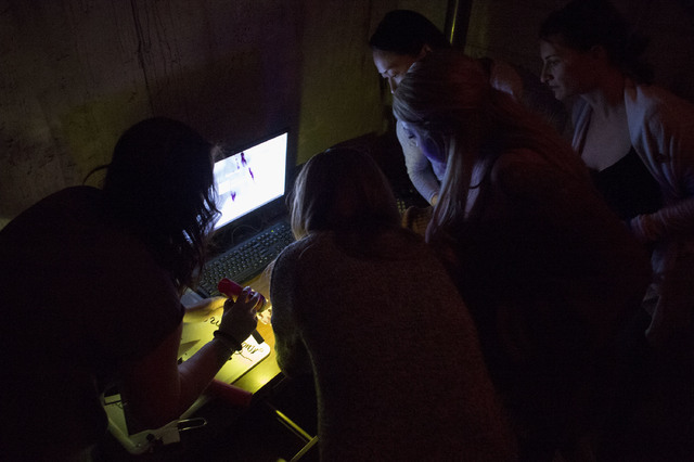 Participators work together in attempts to unravel clues at The Basement. Before beginning the game, the number one tip provided by The Basement staff was to communicate and work together as a tea ...