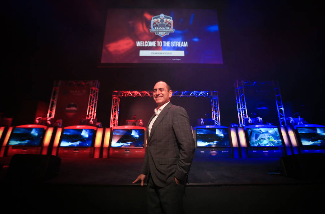 Alex Igelman, CEO of Millennial Esports, in thE Arena during the Halo World Championship North American Qualifier at thE Arena in downtown Las Vegas on Friday, March 3, 2017, in Las Vegas. (Brett  ...