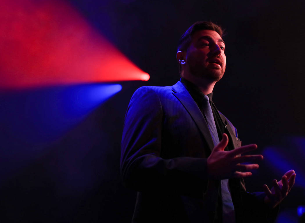 """Caster Tom """"Tsquared"""" Taylor, an ex-champion Halo player, talks about the game and its place in esports during the Halo World Championship North American Qualifier at thE Arena i ..."""