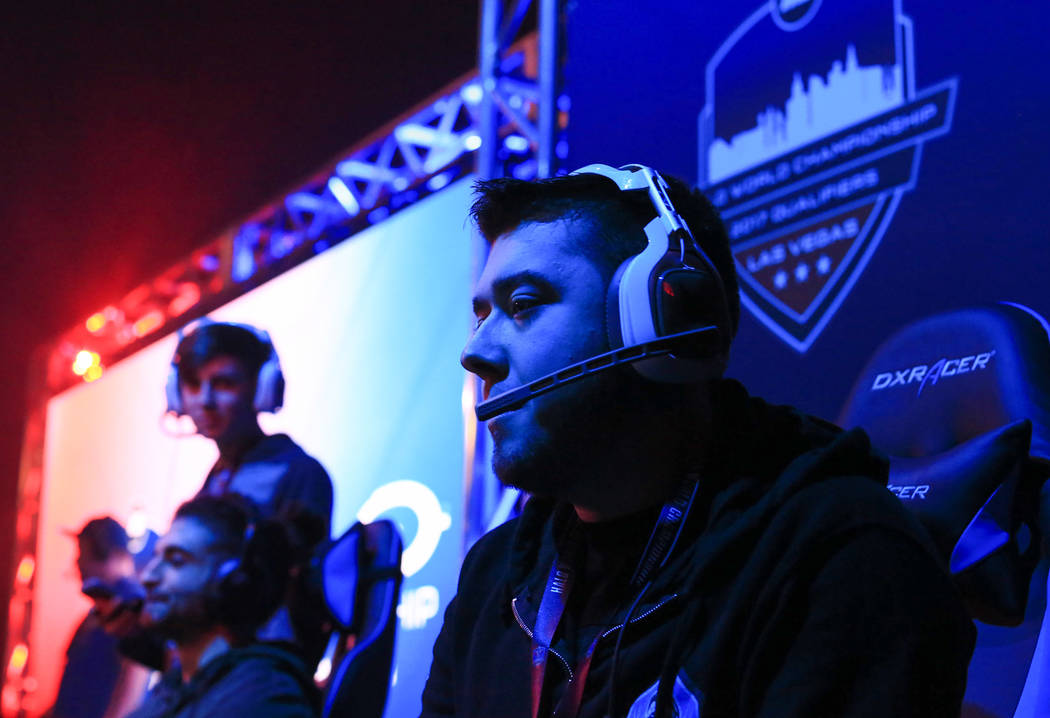 """Nicolas """"King Nick"""" Panzella plays in the first round of the Halo World Championship North American Qualifier at thE Arena in downtown Las Vegas on Friday, March 3, 2017, in Las  ..."""