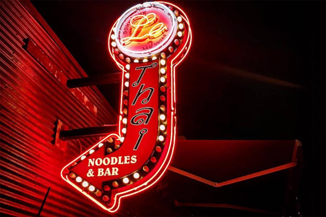 Le Thai restaurant in downtown Las Vegas. (@rolin3rd/Instagram)