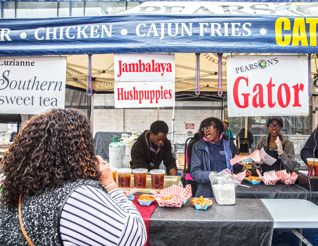 Gator, Jambalaya, hushpuppies and sweet tea were just a few of the favorites being served up at the 17th Annual Taste and Sound of Soul food and music festival on Saturday, Feb. 25, 2017, at the F ...
