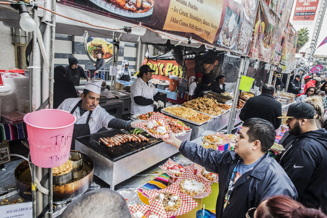 Strawberry and peach funnel cake was just one of the favorites being served up at the 17th Annual Taste and Sound of Soul food and music festival on Saturday, Feb. 25, 2017, at the Fremont Street  ...