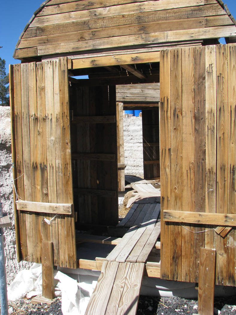 Salvaged wood is used for the arch forms that doorways and windows are built over at Liz Kerby's Open Arms Domes, the first earthen home being built in the valley. (F. Andrew Taylor/View) @FAndrew ...