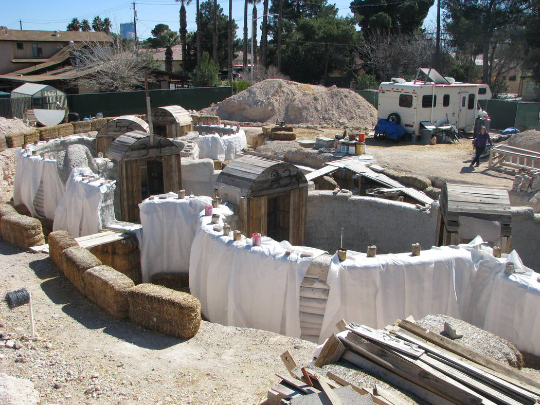 Liz Kerby's home is being built primarily with native soil and cement. (F. Aqndrew Taylor/View) @FAndrewTaylorPress