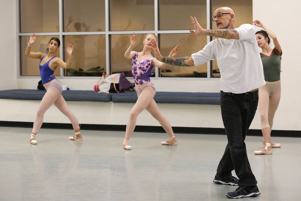 Nevada Ballet Theatre Artistic Director James Canfield gives dancers directions during a Nutcracker rehearsal at NBT in Las Vegas, Wednesday, Nov. 30, 2016. (Chitose Suzuki/Las Vegas Review-Journa ...