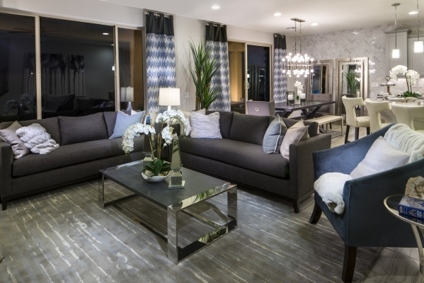 SOUTHWEST VALLEY  Pulte Homes' Springfield models in the builder's Mateo neighborhood in the southwest Las Vegas Valley start at $256,880. The two-story, 1,838-square-foot home has thr ...