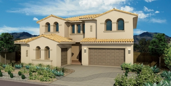 Shown here is William Lyon Homes' Allegra, Plan Two. The new neighborhood will be in The Paseos village at Summerlin. PROMOTIONAL PHOTO