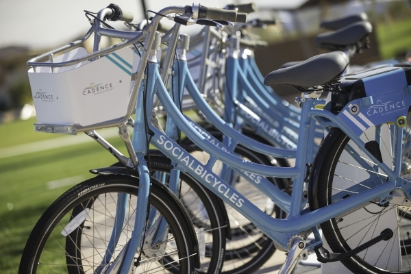 Cadence's 150 registered bike share users have loged 387 miles in 272 trips. Courtesy photo