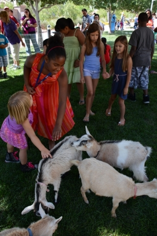 A petting zoo is one of the activities at the free Sunny 106.5 Ice Cream Sunday in Providence's  Huckleberry Park on Sunday. PROMOTIONAL PHOTO