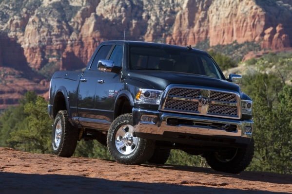 Ford Ram Chevy working hard to haul in Las Vegas truck