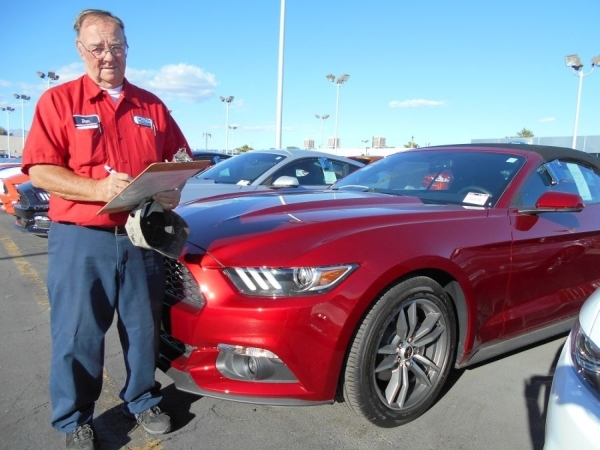 When the 2016 models started rolling in at Friendly Ford, longtime employee Dan Ryan was there to accept the shipment of new vehicles for the dealership at 660 N. Decatur Blvd. He is shown with a  ...