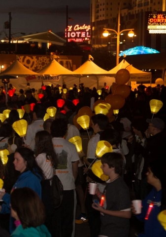The Southern Nevada chapter of The Leukemia & Lymphoma Society's annual Light the Night Walk is scheduled for Nov. 7 in downtown Las Vegas. PROMOTIONAL