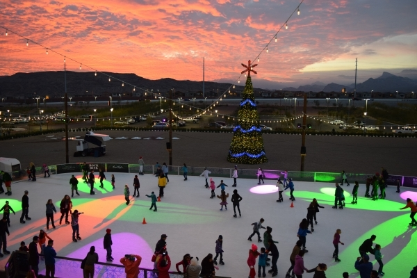 Skaters enjoy an early evening skate at Rock Rink in Downtown Summerlin. PROMOTIONAL