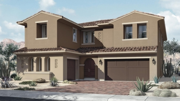 A Plan Three model is shown at William Lyon Homes' new Allegra community in The Paseos at Summerlin. PROMOTIONAL