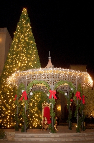 Lake Las Vegas held its tree-lighting ceremony Saturday. COURTESY