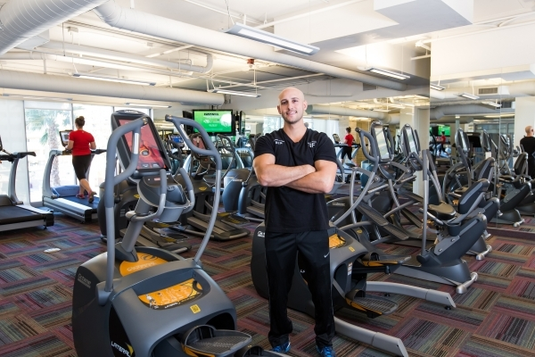 Ben Franco, a professional personal trainer, helps clients shape up and slim down at the newly redesigned, two-story fitness center, Transform, at One Las Vegas.