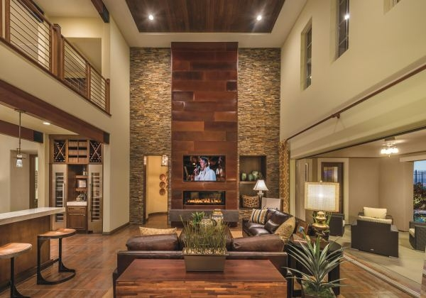 William Lyon Homes' great room is showcased in Plan Three at Tuscan Cliffs in Southern Highlands. PROMOTIONAL