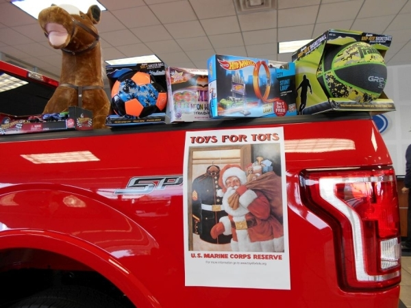 Friendly Ford kicked off its annual U.S. Marine Corps Reserve Toys for Tots campaign on Thanksgiving weekend at the dealership situated at 660 N. Decatur Blvd. COURTESY