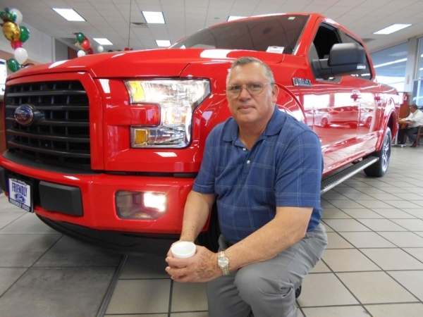 Longtime Friendly Ford customer Oscar Nunez purchased a 2015 Ford F-150 off the showroom floor of the dealership at 660 N. Decatur Blvd. COURTESY