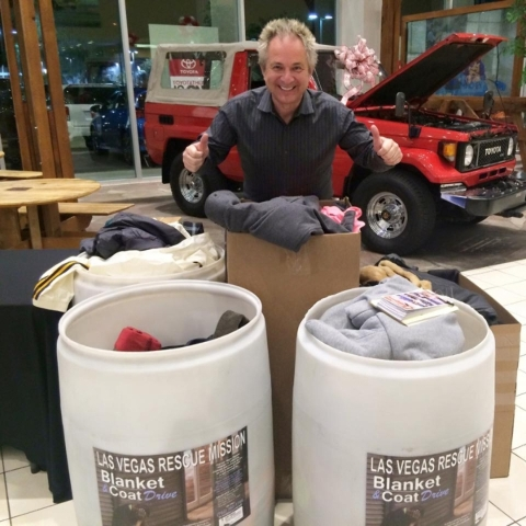 A coat drive Friday and Saturday at Findlay Toyota generated numerous donations at the dealership situated at 7733 Eastgate Road in the Valley Automall. COURTESY