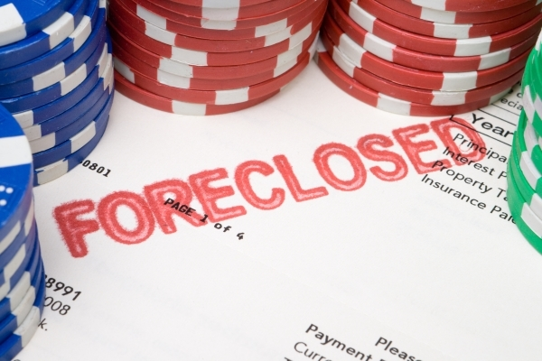 Bet the House, Stacks of Poker Chips on Foreclosed Mortgage